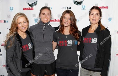 Women's Health Publisher Laura Frerer, FEED CEO Lauren Bush Lauren, celebrity host Ashley Greene and Women's Health Editor in Chief Michele Promaulayko are seen at the flagship 10K event of the nationwide Women's Health RUN 10 FEED 10 running series, on in New York. This program has raised nearly 800,000 meals to date