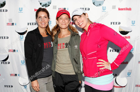 Women's Health Editor in Chief Michele Promaulayko, Talk Stoop's Cat Greenleaf and The Weather Channel's Stephanie Abrams are seen at the flagship 10K event of the nationwide Women's Health RUN 10 FEED 10 running series, on in New York. This program has raised nearly 800,000 meals to date