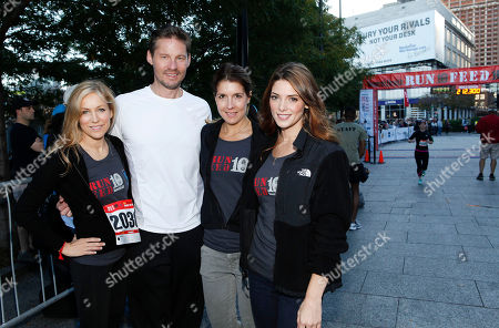 Women's Health Publisher Laura Frerer, Women's Health Editorial Director David Zinczenko, Women's Health Editor in Chief Michele Promaulayko and actress Ashley Greene are seen at the flagship 10K event of the nationwide Women's Health RUN 10 FEED 10 running series, on in New York. This program has raised nearly 800,000 meals to date