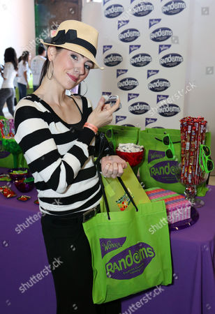 Actress Adrienne Wilkinson visits the WONKA Randoms candy bar at an Emmy Awards gift suite on in Los Angeles. Please visit WONKA's facebook page at www.facebook.com/wonka