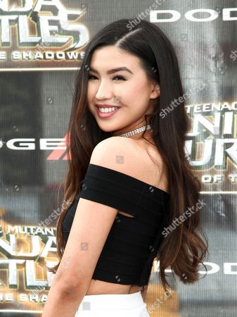 """Erika Tham attends the world premiere of """"Teenage Mutant Ninja Turtles: Out of the Shadows"""" at Madison Square Garden, in New York"""