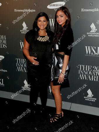 Reshma Saujani, left, and Natasha Driver, right, attend the WSJ. Magazine 2014 Innovator Awards at MoMA, in New York