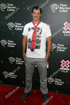 Mat Hoffman attends the X Games Night of Film Benefit presented by Time Warner Cable, in Los Angeles