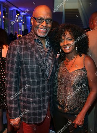 James Pickens Jr., Vanessa Bell Calloway. James Pickens Jr., left, and Vanessa Bell Calloway attend the 2017 Dynamic and Diverse Emmy Nominee Reception presented by the Television Academy, at the Saban Media Center in North Hollywood, Calif