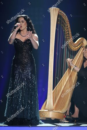 """Carly Smithson performs at the """"American Idol"""" farewell season finale at the Dolby Theatre, in Los Angeles"""