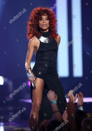 "Stock Image of Tamyra Gray performs at the ""American Idol"" farewell season finale at the Dolby Theatre, in Los Angeles"