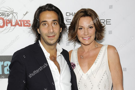 """LuAnn de Lesseps Television personality Luann de Lesseps and boyfriend Jacques Azoulay attend the """"Around the World in 80 Plates"""" Finale Sneak Peek Party presented by Chase Sapphire Preferred and Bravo on in New York, NY"""