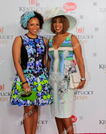 Gayle King (right) and Kirby Bumpus are seen at the 140th Kentucky Derby in Louisville Ky