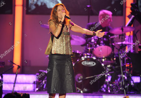 La Mari performs at the 2012 Latin Recording Academy Person of the Year Tribute to Caetano Veloso at the MGM Grand Garden Arena, in Las Vegas