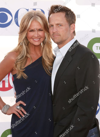 Nancy O'Dell and Keith Zubulevich attend the CBS, Showtime and The CW 2012 TCA summer tour party at 9900 Wilshire Blvd on in Beverly Hills, California