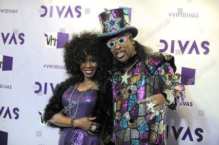 Patti Collins, left, and Bootsy Collins arrive at VH1 Divas, at the Shrine Auditorium in Los Angeles