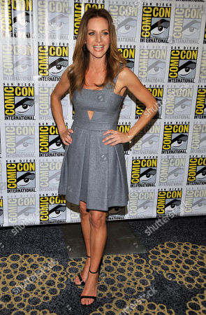 """Jessalyn Gilsig attends the """"Vikings"""" panel on Day 3 of Comic-Con International on in San Diego, Calif"""
