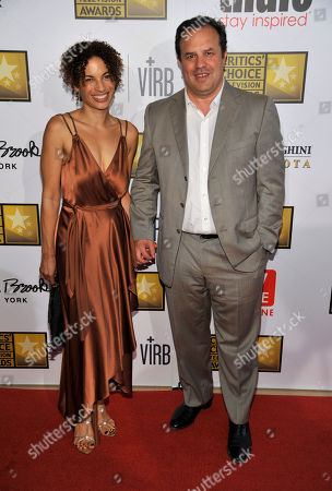 Rod Lurie and guest arrive at the Critics' Choice Television Awards in the Beverly Hilton Hotel, in Beverly Hills, Calif