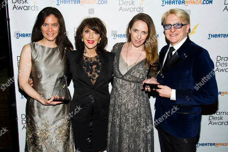 Diane Pailus, left, Andrea Martin, Gypsy Snider and Chet Walker attend the 2013 Drama Desk Awards on in New York