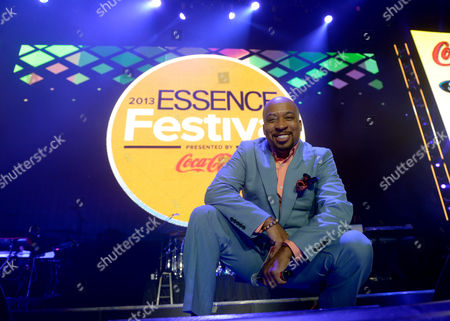Thomas Miles, aka Nephew Tommy, speaks on stage at the Essence Festival at the Superdome, in New Orleans