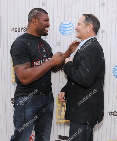 Quinton Jackson, left, and Kevin Kay, president of Spike TV, arrive at Spike TV's Guys Choice Awards at Sony Pictures Studios, in Culver City, Calif