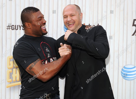 Quinton Jackson, left, and Jimmy Smith arrive at Spike TV's Guys Choice Awards at Sony Pictures Studios, in Culver City, Calif
