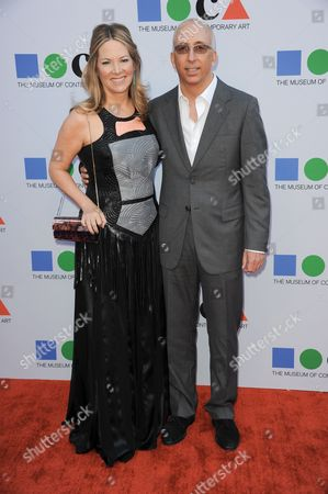 Stock Image of Maria Arena Bell arrives at the 2013 MOCA Gala celebrating the opening of the Urs Fischer exhibition at MOCA on in Los Angeles
