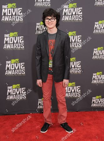 Jared Gilman arrives at the MTV Movie Awards in Sony Pictures Studio Lot in Culver City, Calif., on