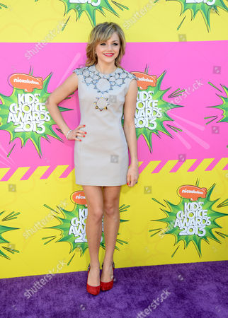 Actress Oana Gregory arrives at the 26th annual Nickelodeon's Kids' Choice Awards, in Los Angeles