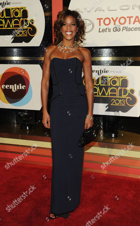 Stock Photo of Singer Nicole Henry arrives at the 2013 Soul Train Awards at the Orleans Arena on in Las Vegas