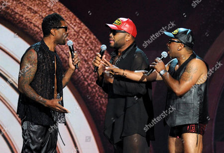 Stock Photo of From left, Deon Cole, Anthony Anderson and Carl Payne perform onstage at the 2013 Soul Train Awards at the Orleans Arena on in Las Vegas