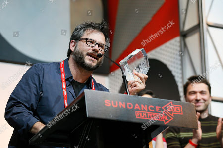 """Director Jacob Kornbluth accepts the Special Jury Award: U.S. Documentary For Achievement in Filmmaking for """"Inequality For All"""" during the 2013 Sundance Film Festival Awards Ceremony on in Park City, Utah"""