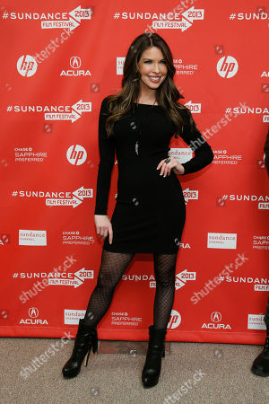 """Actress Nicole Andrews poses at the premiere of """"Lovelace"""" during the 2013 Sundance Film Festival on in Park City, Utah"""