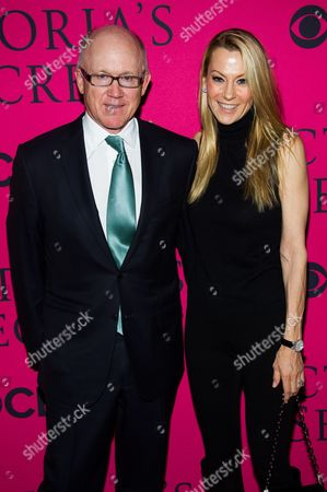 Stock Image of Woody Johnson and Suzanne Johnson attend the Victoria's Secret Fashion Show on in New York