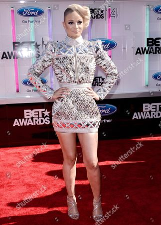 Charli Baltimore arrives at the BET Awards at the Nokia Theatre, in Los Angeles