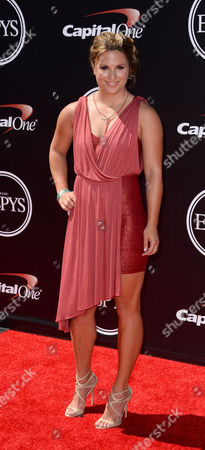 Stock Picture of Mountaineer Melissa Arnot arrives at the ESPY Awards at the Nokia Theatre, in Los Angeles