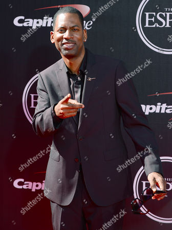 Comedian Tony Rock arrives at the ESPY Awards at the Nokia Theatre, in Los Angeles