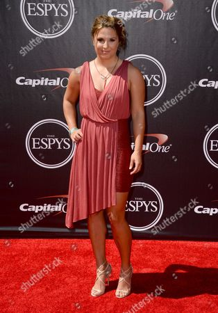 Mountaineer Melissa Arnot arrives at the ESPY Awards at the Nokia Theatre, in Los Angeles