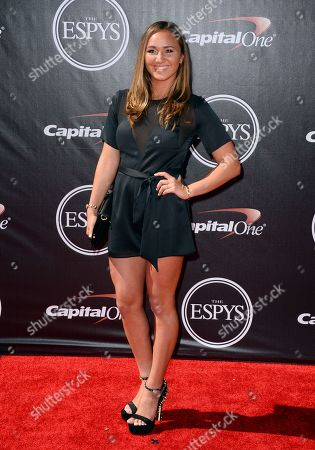 Surfer Carissa Moore arrives at the ESPY Awards at the Nokia Theatre, in Los Angeles