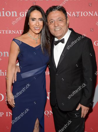 "Stock Picture of Designer Elie Tahari, right, and wife JoAnne Blessinger attend Fashion Group International's 31st Annual ""Night of Stars"" at Cipriani Wall Street on in New York"