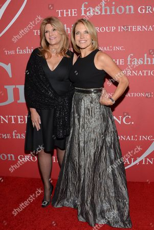 "Stock Picture of Humanitarian award recipient Lisa Paulsen, left, and Katie Couric attend Fashion Group International's 31st Annual ""Night of Stars"" at Cipriani Wall Street on in New York"