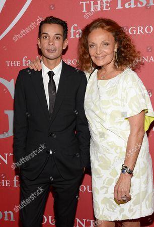 "Designer Diane von Furstenberg and Michael Herz attend Fashion Group International's 31st Annual ""Night of Stars"" at Cipriani Wall Street on in New York"