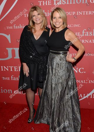 "Humanitarian award recipient Lisa Paulsen, left, and Katie Couric attend Fashion Group International's 31st Annual ""Night of Stars"" at Cipriani Wall Street on in New York"