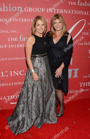 """Humanitarian award recipient Lisa Paulsen, right, and Katie Couric attend Fashion Group International's 31st Annual """"Night of Stars"""" at Cipriani Wall Street on in New York"""