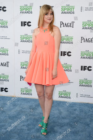 Bonnie Sturdivant arrives at the 2014 Film Independent Spirit Awards,, in Santa Monica, Calif