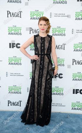 Hande Kodja arrives at the 2014 Film Independent Spirit Awards,, in Santa Monica, Calif