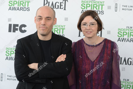 Joshua Oppenheimer and Signe Byrge Sorensen arrives at the 2014 Film Independent Spirit Awards,, in Santa Monica, Calif