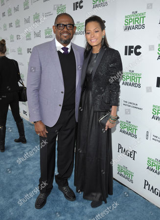 Forest Whitaker and Keisha Nash Whitaker arrive at the 2014 Film Independent Spirit Awards,, in Santa Monica, Calif