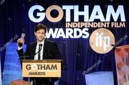 """Director Bennet Miller accepts the """"Director Tribute"""" award at The Independent Film Project's 24th Annual Gotham Independent Film Awards at Cipriani Wall Street, in New York"""