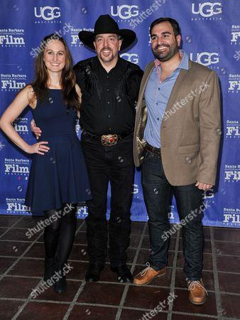 From left, Producer Erin Krozek, Wade Earp, and director Matt Livadary seen at 2014 Santa Barbara International Film Festival - Outstanding Director Award ceremony on Friday, Jan, 31, 2014 in Santa Barbara, Calif