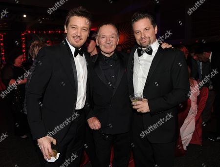From left, Jeremy Renner, Paul Herman and Shea Whigham attend the Palm Springs International Film Festival Awards Gala at the Palm Springs Convention Center, in Palm Springs, Calif
