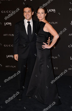 Fred Savage, left, and Jennifer Stone Savage arrive at the LACMA Art + Film Gala at LACMA, in Los Angeles