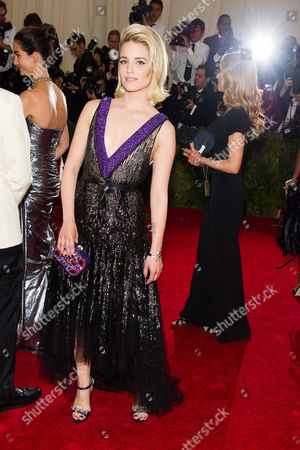 Dianna Agron attends The Metropolitan Museum of Art's Costume Institute benefit gala celebrating 'Charles James: Beyond Fashion', in New York