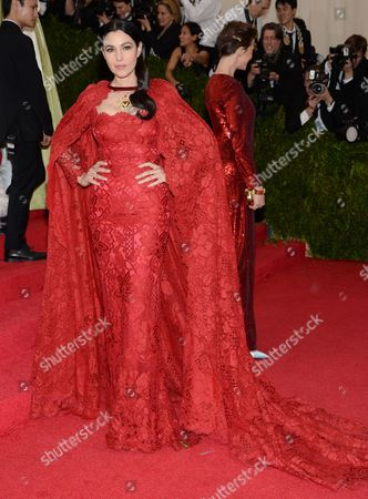 """Monica Belluci attends The Metropolitan Museum of Art's Costume Institute benefit gala celebrating """"Charles James: Beyond Fashion"""", in New York"""