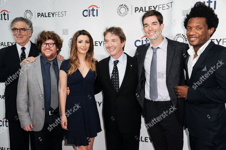ZFrom left, Elliott Gould, Zak Pearlman, Nasim Pedrad, Martin Short, John Mulaney, and Seaton Smith arrive at the 2014 PALEYFEST Fall TV Previews - FOX, in Beverly Hills, Calif